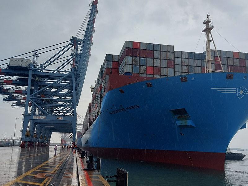 Bà Rịa-Vũng Tàu: Tàu container lớn nhất thế giới cập cảng Cái Mép