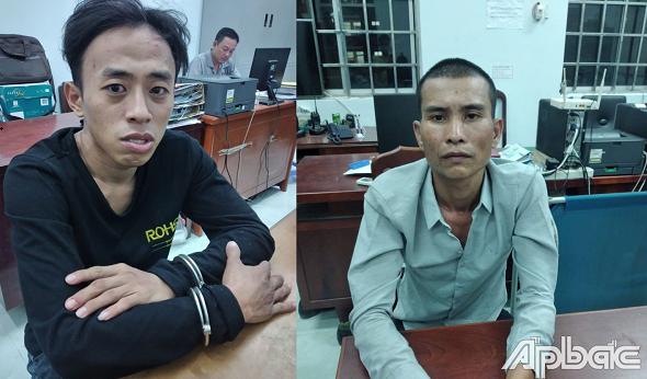 Tiền Giang: Bắt 2 đối tượng cướp giật tài sản liên hoàn