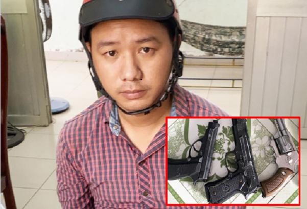 """Long An: Rao bán """"súng"""" trên mạng bị Công an bắt giữ"""