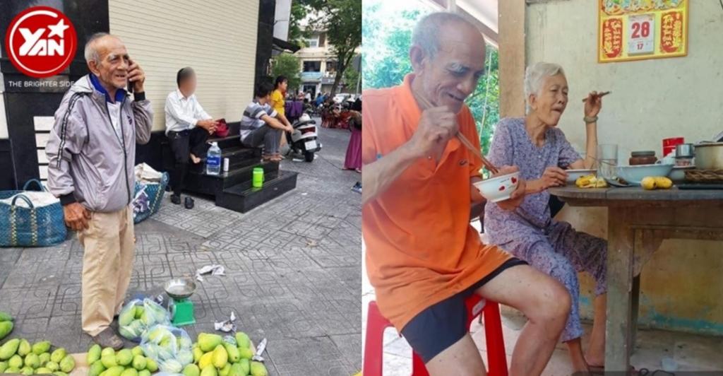 Cụ ông bán xoài tại Sài Gòn đã được ủng hộ hơn 100 triệu đồng