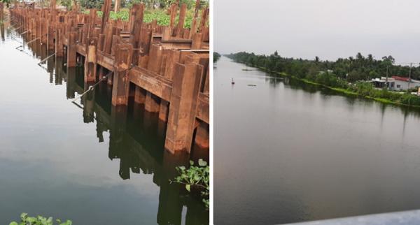 Nguồn nước trữ ngọt phục vụ hơn 1 triệu dân ở Tiền Giang có nguy cơ ô nhiễm