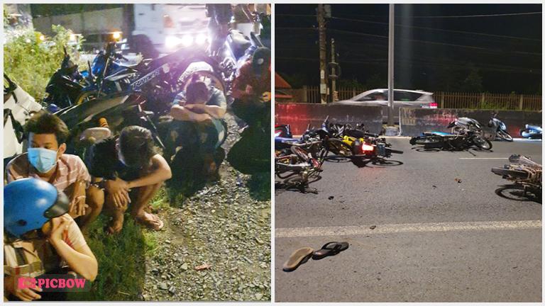 Tiền Giang: Bắt 80 quái xế tụ tập đua kéo xe trên QL1A
